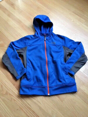 The North Face Boys Full Zip Hoodie Sweatshirt Blue/Black Youth Size M 10/12