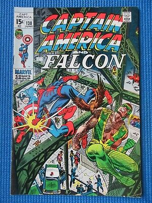 Captain America # 138 - (Vf-) - Spider-Man. Harry Osborn, Stone Face, Falcon