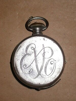Vintage Expo Pocket Watch Spy Camera Nickel Plated US Patent New York 1904