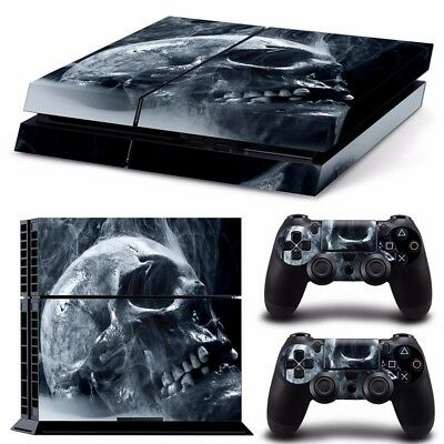 Skull Skin Style Sticker For PS4 Playstation 4 Console 2 Controllers Vinyl Decal