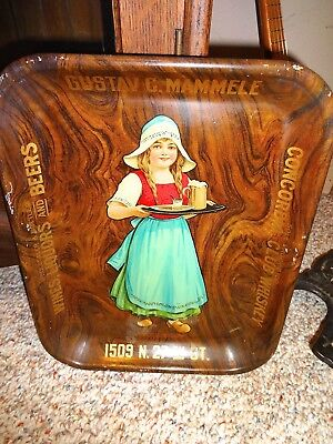 Vintage Beer Whiskey Advertising Tray Pre Prohibition Coshocton