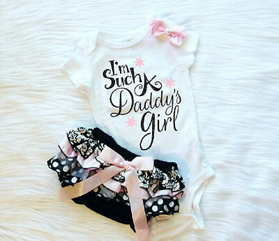 US Stock Newborn Kids Baby Girls Cotton Romper Lace Skirt Shorts Outfits Summer