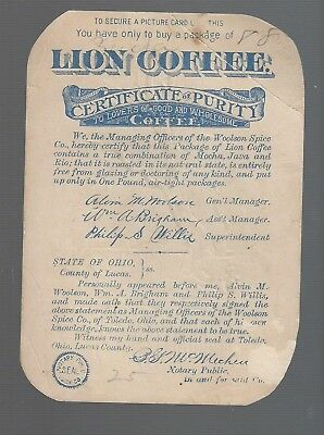 Vintage Lion Coffee-Picture Card-Winter Scene-Victorian Trade Card