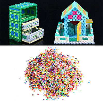 1000Pcs  2.6mm HAMA/PERLER BEADS for Child Gift GREAT Kids Great Fun