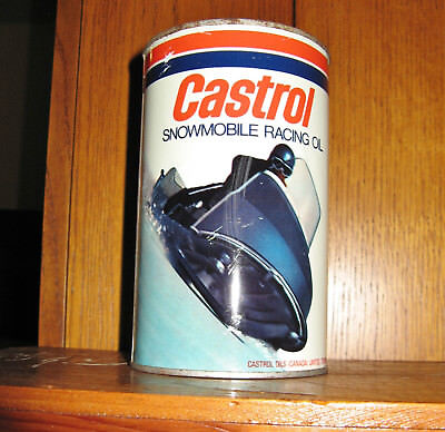 VINTAGE CASTROL SNOWMOBILE OIL TIN CAN-Full