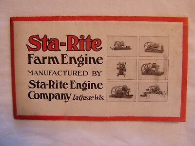Vintage Sta-Rite Farm Hit And Miss Stationary Engine Advertising Sales Brochure