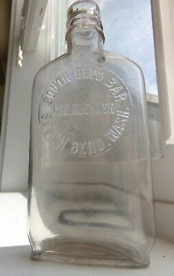 Western 12 Pint Whiskey Flask, C.W. KUEHNER  SOUTH BEND, Wash Liquor Store