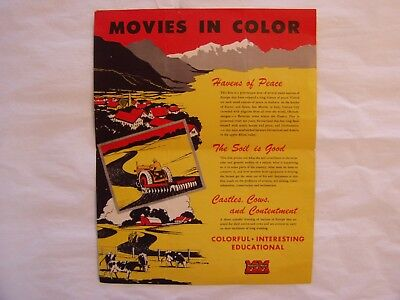 Vintage 1951 Minneapolis Moline Advertising Brochure Flyer 4 Educational Movies