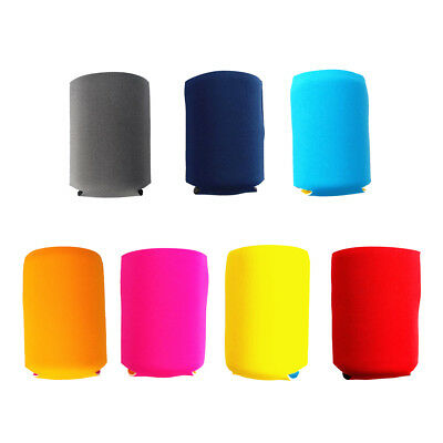 Magideal 2x Beer Can Cooler Holder Sleeve+10x Drinking Straws Party Decor