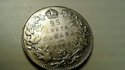 Tougher Date 1932 Canada 25 Cents