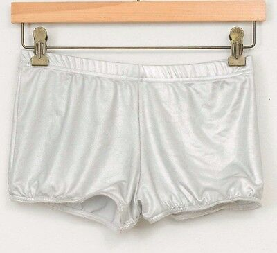 Short Dance Shorts Adult Medium Silver Costume Booty Undershorts Metallic