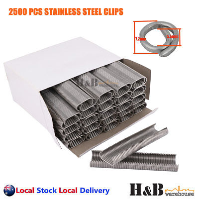 2500 Pcs C7 SR8 Stainless Steel Hog Ring Clips C Clip Fence Wire Ringer