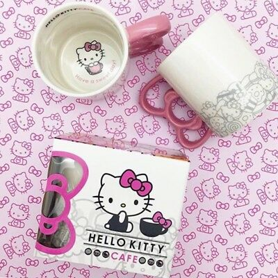 Hello Kitty Cafe Exclusive Mug New Bow Handle Sanrio Kawaii