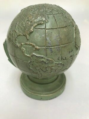 RELISTED / BIN / Old Metal Globe Bank with Gorgeous Patina (B8)