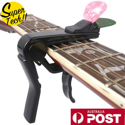 2018 New Alloy Capo For Acoustic Electric Guitar Quick Change With Pick Holder