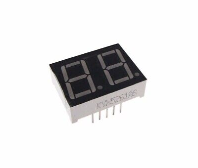 """0.56"""" 2 Digit 7-Segment LED Display DIP common cathode - Red - Pack of 2"""