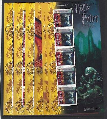 Isle Of Man 2005 Harry Potter And Goblet Of Fire Set Of 6 Sheetlets Fine Used