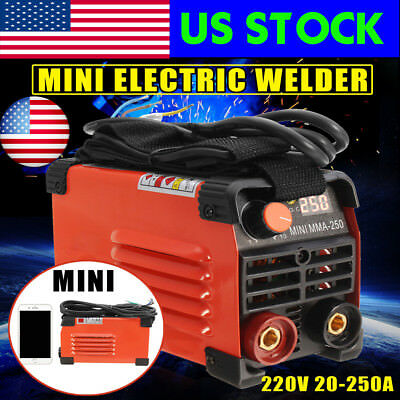 USA 20-250A Electric Welder Handheld Mini Inverter ARC Welding Machine Tool