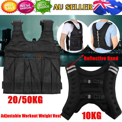 10/20KG/50KG Adjustable Weight Vest Home Gym Sport Fit Weighted Training Fitness