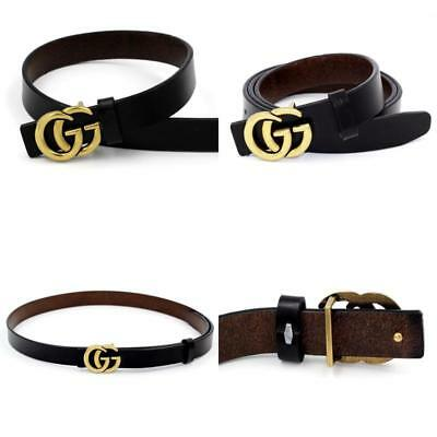 Women Thin Belts Fashion Gucci Logo Pattern Genuine Leather For Ladies Jeans 1.0