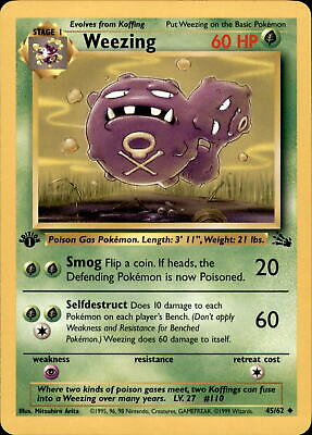 Pokemon - 45/62 Weezing - Fossil - Englisch - 1 Edition