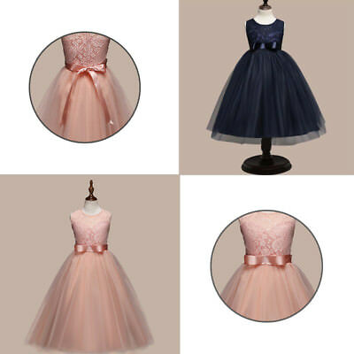 Flower Girl Dresses Lace Wedding Bridesmaid Formal Baby Princess Party Dresses