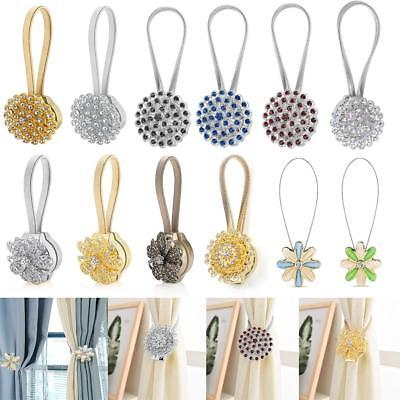 Magnetic Window Curtain Tieback Crystal Buckle Drapery Holder Home Decoration HG