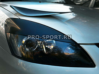 Mitsubishi Lancer 2003 2004 2005 2006-2009 eye brow, eyelids, cilia head lights,