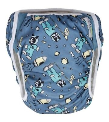 Grovia Swim Diaper Size 1 10-19 lbs In Package Astro Space Dog Stretchy Sides