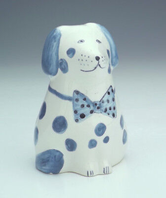 Vintage - Rye Studio Pottery - Hand Painted Dog Figure - Lovely!