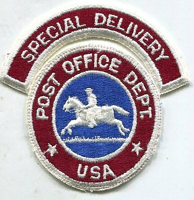 Scarce 1960s Post Office Special Delivery section patch—original