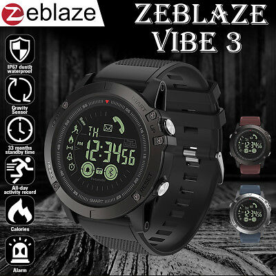 Zeblaze VIBE 3 Waterproof Bluetooth Smart Watch Phone Mate Sport For iOS/Android