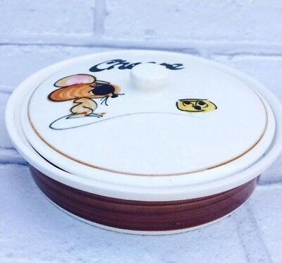 Toni Raymond Vintage 1960's Cheese Dish With Lid