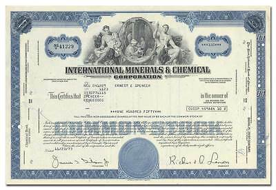International Minerals & Chemical Corporation Stock Certificate