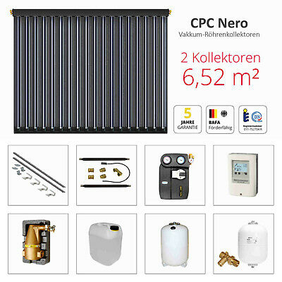 solarbayer Tube Collector Complete Pack, CPC Nero Solar Package 2 (6,52m²) Solar