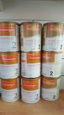 Brand new Nutramigen 2 with LGG 6 Months + Cows Milk Allergy Baby 400g 9 tins
