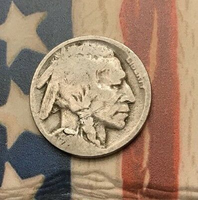 1919-D 5C Buffalo Nickel Vintage US Copper Coin #DR36