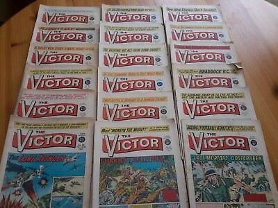 VICTOR COMICS X 18 FROM 1961-67  Mainly Fair-good  condition/-Job Lot