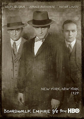 """Boardwalk Empire """"Luciano, Rothstein, Lansky"""" Reproduction Poster, Home Wall Art"""
