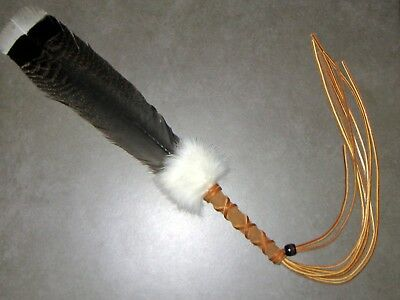 Native American Inspired Smudging Prayer Offering Feather Fan Hand Crafted