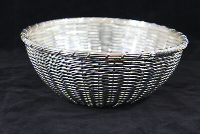 Christofle Silverplate Woven Bread Basket or Fruit Bowl from Anne Anka Estate
