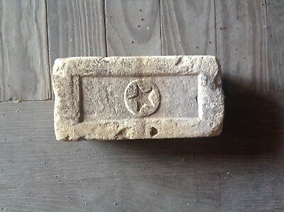 Antique Brick Stamped **** Star With Circle  ****  Texas Ranger Star