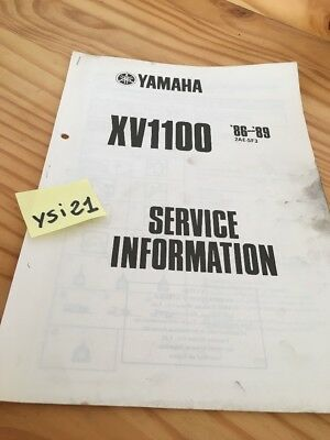 Yamaha XV1100 86 89 XV 1100 virago service information technique technical data