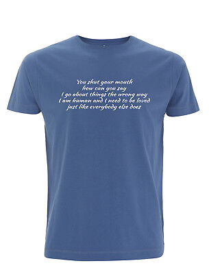"""The Smiths, """"How Soon Is Now"""" T Shirt Lyrics, Morrissey/Marr, Manchester"""