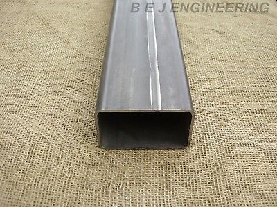 Mild Steel Box 100mm x 60mm x 3mm - 200mm lg - Rectangular Tube