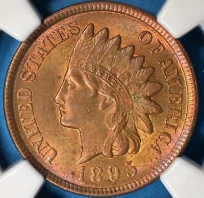 1895 Indian Head Cent NGC MS63RB- Nice Patina, Eye Appeal