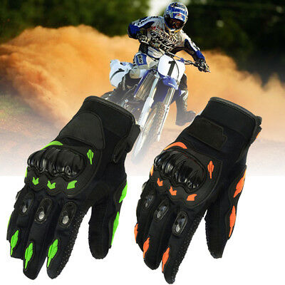 Short Motorbike Motorcycle Armored Gloves Men Off Road Carbon Knuckle Protection
