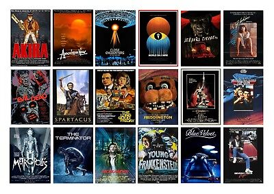 Best Classic Vintage Movie Horror POSTER OPTIONS A3 A4 WALL ART BUY 1 GET 2 FREE