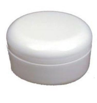4 oz low profile double wall pp plastic jar with domed lid w/ lid liner, New