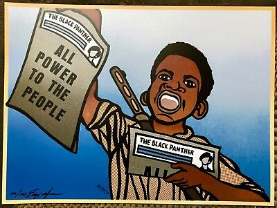 """""""paper Boy"""" Black Panther Party Poster Signed Numbered By Emory Minister Of Art"""